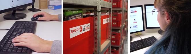 Bürotätigkeiten bei ZOXS