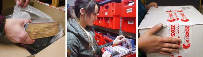 Lagertätigkeiten im ZOXS Warehouse