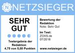 Netzsieger ZOXS Siegel