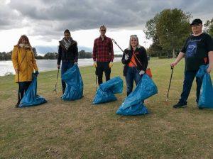 Team ZOXS beim Auesee CleanUp