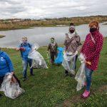 Teilnehmer des CleanUp in Wesel