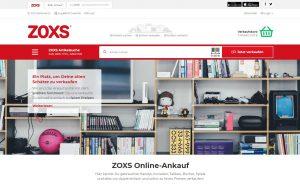 Die Startseite von ZOXS.de