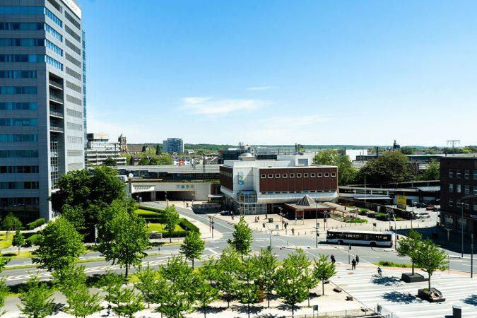 Ausblick von ZOXS Dachterasse Duisburg